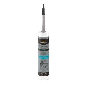 Герметик Санитарный силиконовый прозрачный ТМ Аккурат 260 мл