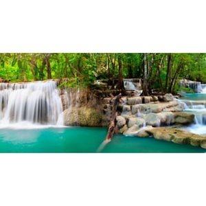Фартук кухонный пластиковый 3 метра Тропический водопад 1091 (Фотопечать) ПП