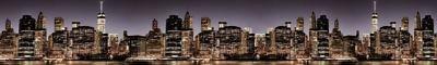 Фартук кухонный пластиковый 3 метра Ночной Нью-Йорк 1085 (Фотопечать) ПП