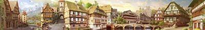 Фартук кухонный пластиковый 3 метра Альпийский городок 1664 (Фотопечать) ПП