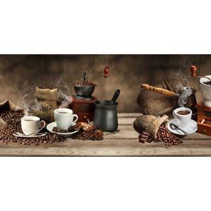 Фартук кухонный пластиковый 3 метра Кофе 1804 (Фотопечать) ПП