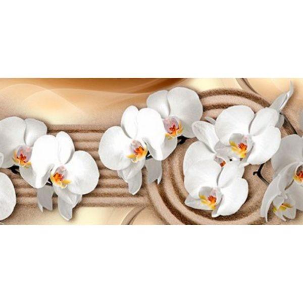 Фартук кухонный пластиковый 3 метра Орхидеи 2366 (Фотопечать) ПП