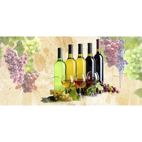 Фартук кухонный пластиковый 3 метра Вино 2382 (Фотопечать) ПП