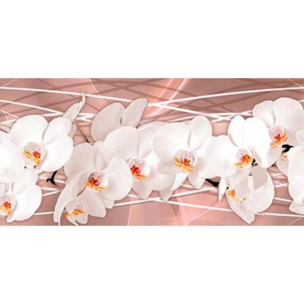 Фартук кухонный пластиковый 3 метра Орхидеи 2464 (Фотопечать) ПП