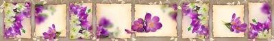 Фартук кухонный пластиковый 3 метра Цветы 2159 (Фотопечать) ПП
