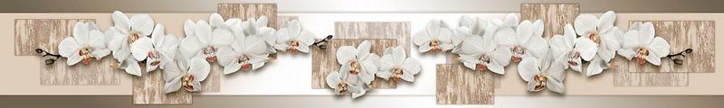 Фартук кухонный пластиковый 3 метра Орхидеи 2385 (Фотопечать) ПП