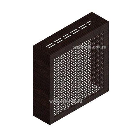 Экран с коробом для радиаторов 600х600x170 мм. ХДФ. Перфорированный. Сусанна Венге