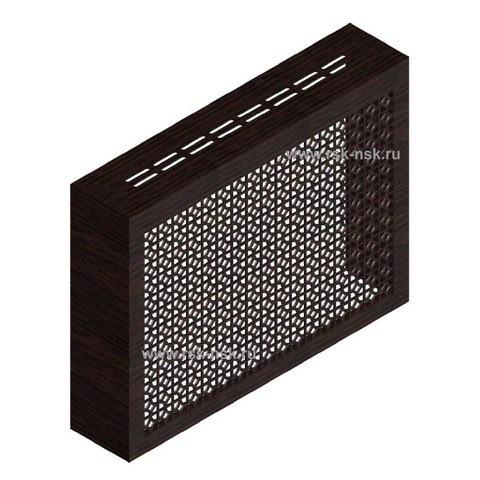 Экран с коробом для радиаторов 900х600x170 мм. ХДФ. Перфорированный. Сусанна Венге