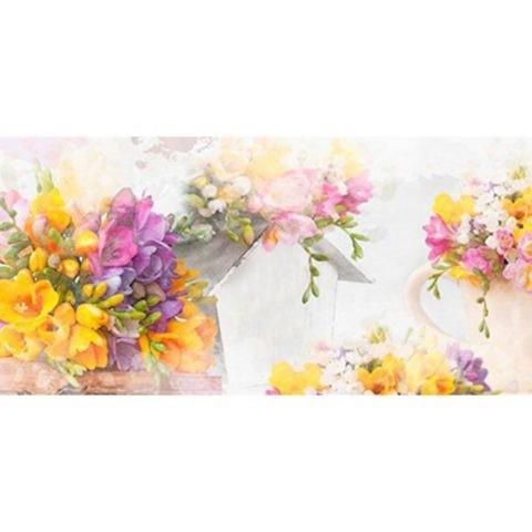 Фартук кухонный пластиковый 3 метра Цветы 576 (Фотопечать) ПП
