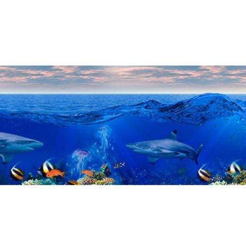 Фартук кухонный пластиковый 3 метра Корабли в океане 680 (Фотопечать) ПП