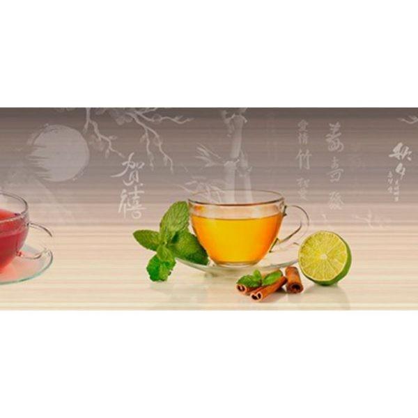 Фартук кухонный пластиковый 3 метра Чай 750 (Фотопечать) ПП