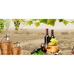 Фартук кухонный пластиковый 3 метра Виноград, вино 928 (Фотопечать) ПП