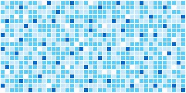 Мозаика синяя. Панели пластиковые листовые. Мозаика