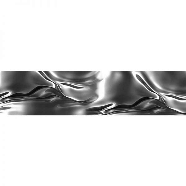 Фартук кухонный МДФ 2,8х0,6 метра Серебряный шёлк 0632