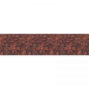 Фартук кухонный МДФ 2,8х0,6 метра Деревянные цветы 0975