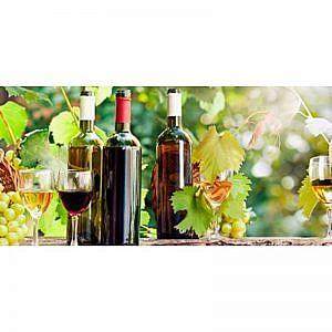 Фартук кухонный МДФ 2,8х0,6 метра Виноград, вино 106