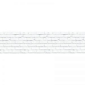 Фартук кухонный пластиковый 3х0,6 метра Кирпич белый 1805