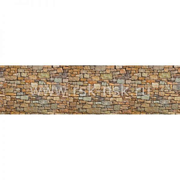 Фартук кухонный пластиковый 3х0,6 метра Камни 2214