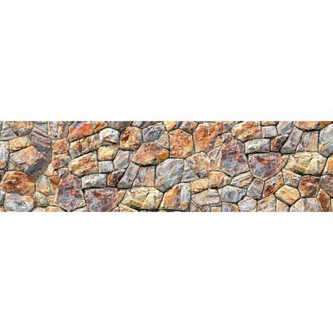 Фартук кухонный пластиковый 3х0,6 метра Камни 2727