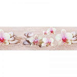 Фартук кухонный МДФ 2,8х0,6 метра Белые орхидеи 572