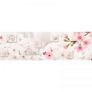 Фартук кухонный МДФ 2,8х0,6 метра Цветы 620