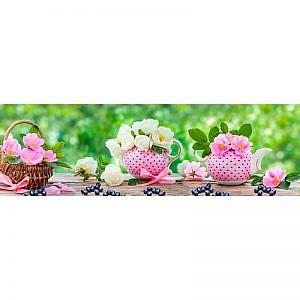 Фартук кухонный МДФ 2,8х0,6 метра Цветы, ягоды 654