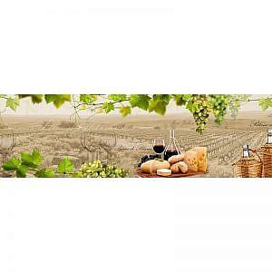 Фартук кухонный МДФ 2,8х0,6 метра Вино, виноград 721
