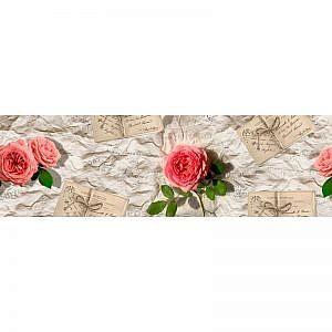 Фартук кухонный МДФ 2,8х0,6 метра Розы 742