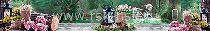 Фартук кухонный МДФ 2,8х0,6 метра Цветы в мешочках 716
