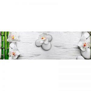 Фартук кухонный МДФ 2,8х0,6 метра Цветы, бамбук 1581