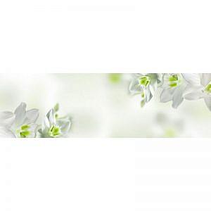 Фартук кухонный МДФ 2,8х0,6 метра Белые цветы 1930