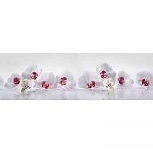 Фартук кухонный МДФ 2,8х0,6 метра Белые орхидеи 2229