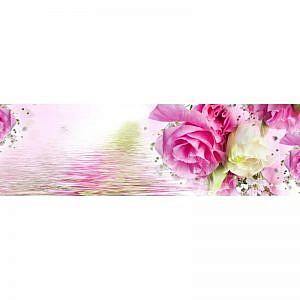 Фартук кухонный МДФ 2,8х0,6 метра Розы 3077