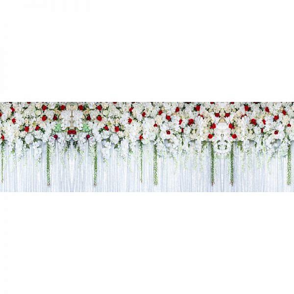Фартук кухонный МДФ 2,8х0,6 метра Висящие цветы 3111