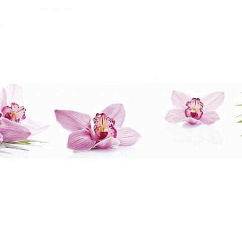 Фартук кухонный МДФ 2,8х0,6 метра Розовые орхидеи 3357