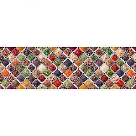 Фартук кухонный МДФ 2,8х0,6 метра Узор, специи 4917
