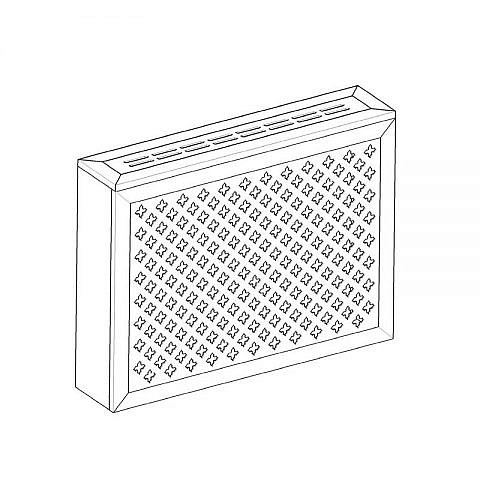 Экран с коробом для радиаторов 900х600x170 мм. ХДФ. Перфорированный. Готико Белый