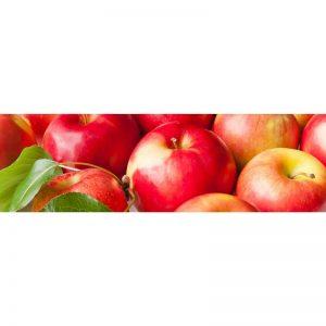 Фартук кухонный МДФ 2,8х0,6 метра Красные яблоки 019