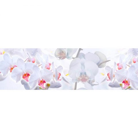 Фартук кухонный МДФ 2,8х0,6 метра Орхидеи 007
