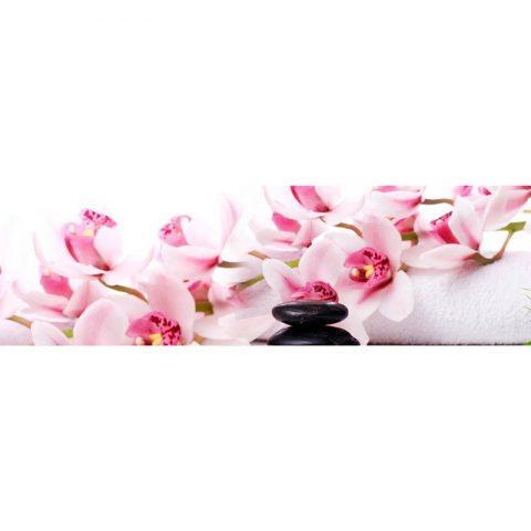 Фартук кухонный МДФ 2,8х0,6 метра Розовые орхидеи 050