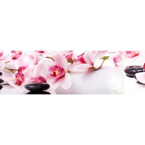 Фартук кухонный МДФ 2,8х0,6 метра Розовые орхидеи 051
