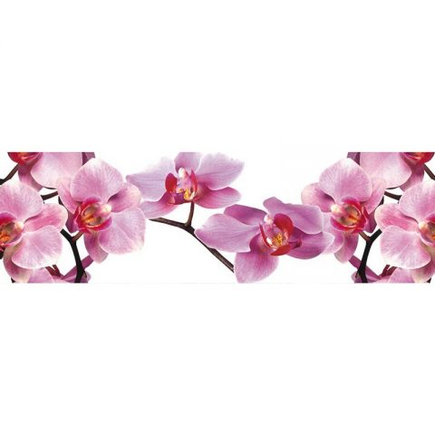 Фартук кухонный МДФ 2,8х0,6 метра Розовые орхидеи 086