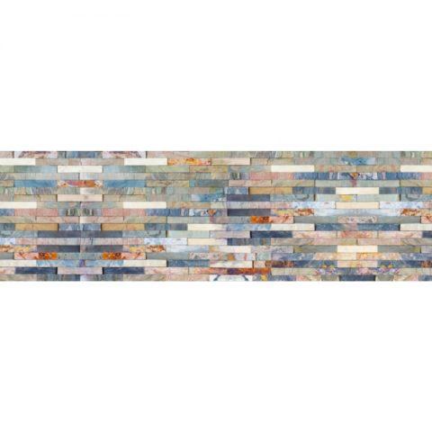 Фартук кухонный МДФ 2,8х0,6 метра Разноцветный сланец 5389