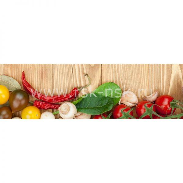Фартук кухонный МДФ 2,8х0,6 метра Овощи 056