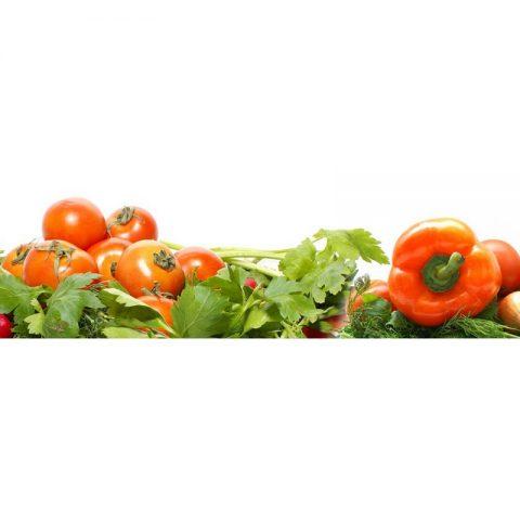 Фартук кухонный МДФ 2,8х0,6 метра Овощи 068