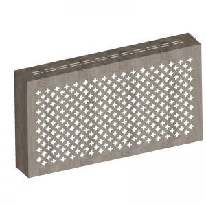 Экран с коробом для радиаторов 1200х600x170 мм. ХДФ. Перфорированный. Готико Дуб Винтаж
