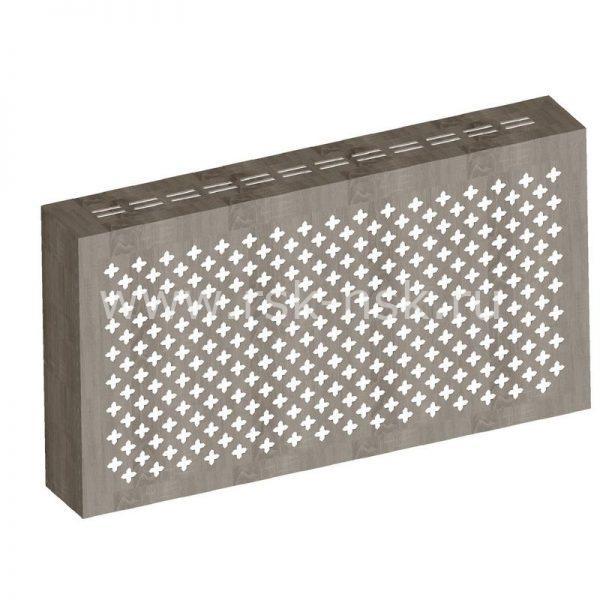 Экран с коробом для радиаторов 1200х600×170 мм. ХДФ. Перфорированный. Готико Дуб Винтаж
