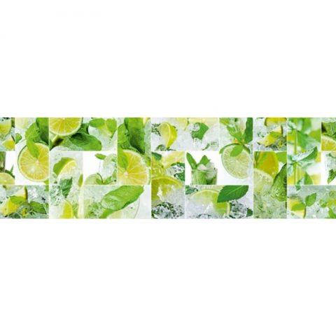 Фартук кухонный пластиковый 3х0,6 метра Лёд 9185