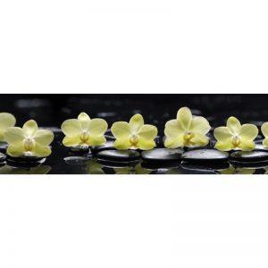 Фартук кухонный пластиковый 3х0,6 метра Жёлтые орхидеи 9243