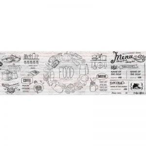 Фартук кухонный пластиковый 3х0,6 метра Кофе 9550